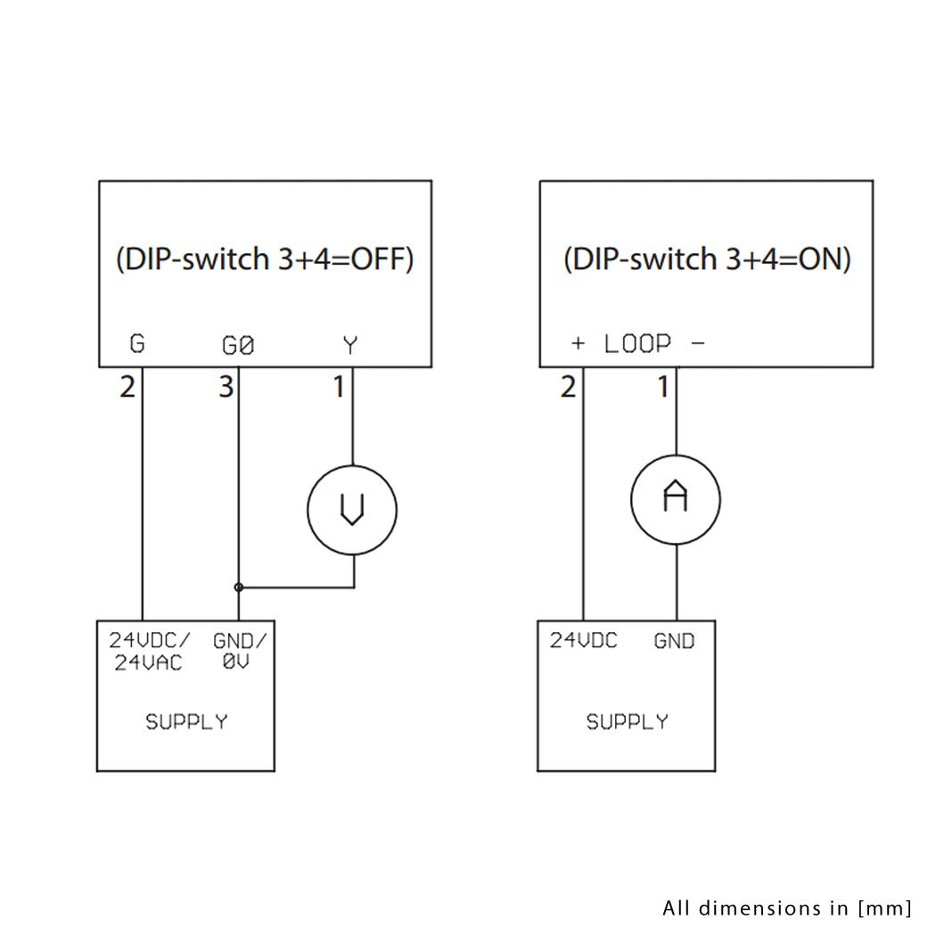 longitud de montaje 200 mm activo 0 10 V o Salida 4-20 mA sensor PT1000 PT1000 rango de medici/ón ajustable Medidor de temperatura de canal con brida de montaje longitud 200 mm