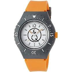 Q & Q SmileSolar watch 20BAR series White ~ Orange RP04-004 Men