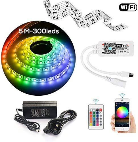 5M LED Strip WIFI Kit led power supply