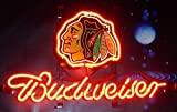 Desung Brand New 14''x10'' B udweiser Sports Team C-Blackhawks Neon Sign (Various Sizes) Beer Bar Pub Man Cave Glass Neon Light Lamp BW41