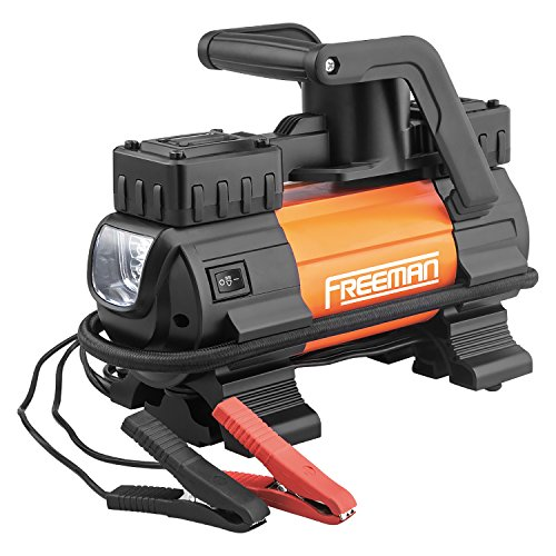 Freeman P45LMTI High Power Portable 12V Tire Inflator with Gauge