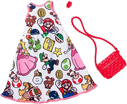 Barbie Super Pack - Barbie Super Mario White Dress Fashion