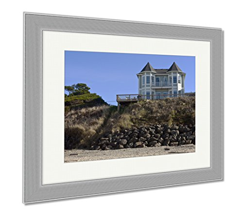 Ashley Framed Prints Real Estate In Lincoln City Oregon, Wall Art Home Decoration, Color, 30x35 (frame size), Silver Frame, - Oregon Lincoln City Shops In