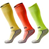 3 Pack Of Boys& Girls High Tube Long Knee Athletic Compression Pressure Soccer Football Socks (7-13 Years Kids/Youth Gifts)