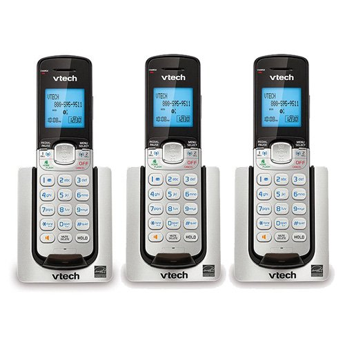 - VTech DS6071 Expansion Handset For Cordless Telephone System 2-Line 1.9GHz DECT 6.0 (3-Pack)