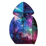 SAYM Big Boys' Youth Galaxy Teen Jackets Fleece Full Zip Hooded Hoodie 6-15Y NO8 XL