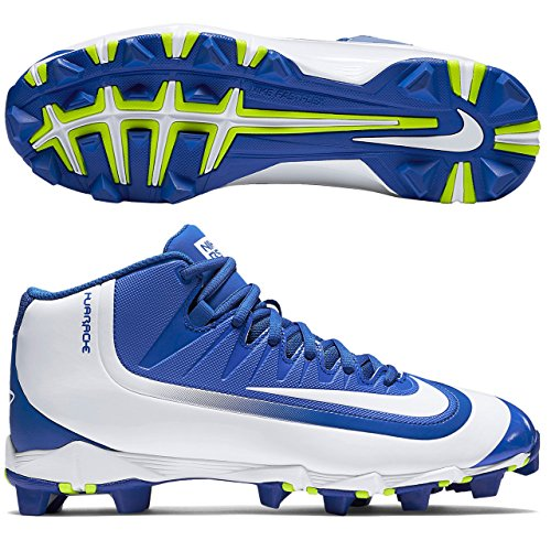 Nike Mens Huarache 2KFilth Keystone Mid Baseball Cleat Game Royal/Volt/White Size 13 M US