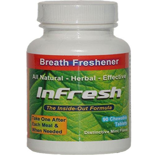 Mauvaise haleine Tablet naturel - InFresh - 90 comprimés Bouteille