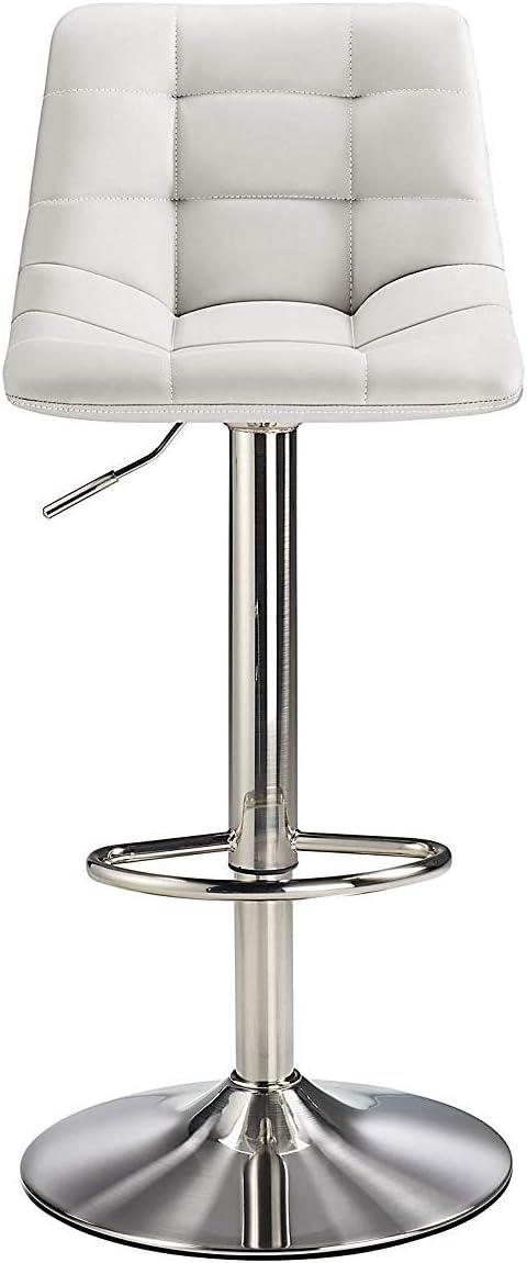 Berlin Brushed Bar Stool (Cream) White