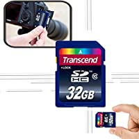 Transcend 32GB High Speed Memory Card KIT for SONY Cyber-shot DSC-HX90V WX500 W800 WX350 WX220 W830 W810 TX30 WX80 TF1 W730 W710 WV10 WX15 W690 TX66 TX20 TX200V WX70 WX50 W650 W620 Digital Cameras by Xtech SONY Camera 32GB MEMORY CARD