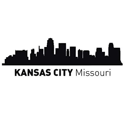 Kansas City Missouri Skyline Silhouette Wall Vinyl Decal Sticker Home Decor Art Mural Z492