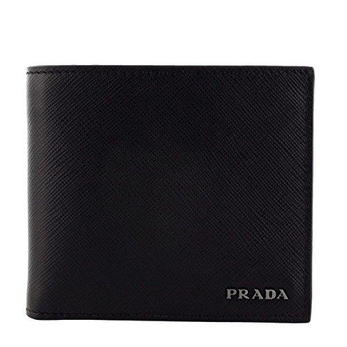 プラダ 二つ折り財布 メンズ ブラック 2MO738 C5S [並行輸入品] B078ZPQHG7