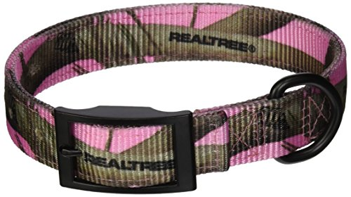 Realtree APC Pink Camouflage Dog Collars, 19-Inch