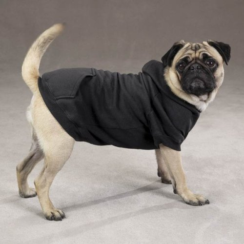 Dog Hooded Sweatshirt Black Medium