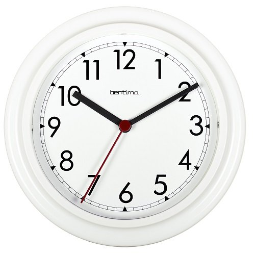 Bentima 21242 23 cm Stratford Wall Clock, White Acctim 67309AT 1246 CK1246