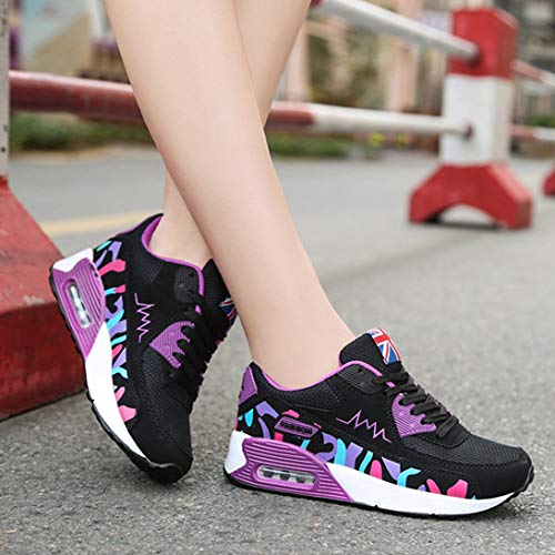 Running Purple 66 Air 956 Fashion Town Walking Women's Casual Sneaker No Shoes SWTaT