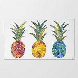 Doormat Floor Mat Rug Inside Rubber Doormat 23.6''(L) x 15.7''(W) Pineapples Rug