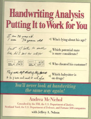 Handwriting Analysis Putting It to Work for You by CONTEMPORARY BOOKS