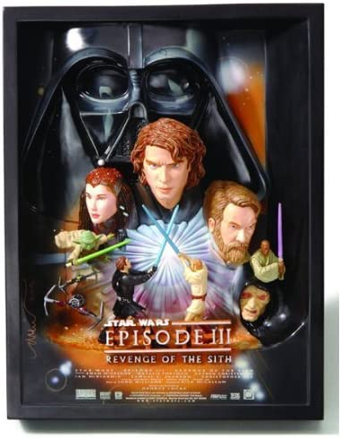 Amazon Com Star Wars Episode Iii Revenge Of The Sith 3 D Movie Poster Sculpture Style A Best Buy Exclusive By Collectiblewizard Toys Games
