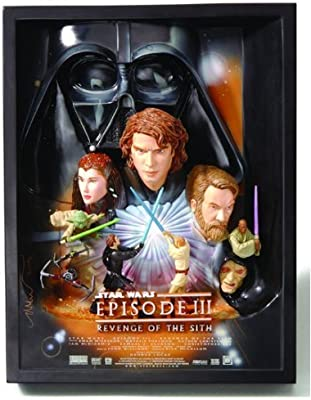 Star Wars Episode Iii Revenge Of The Sith 3 D Movie Poster Sculpture Style A Best Buy Exclusive Amazon Co Uk Welcome