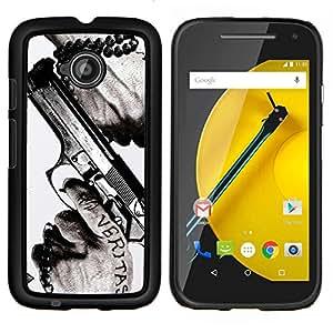 """Be-Star Único Patrón Plástico Duro Fundas Cover Cubre Hard Case Cover Para Motorola Moto E2 / E(2nd gen)( Veritas Pistola Verdad Slogan Cita Hombre Manos"""" )"""