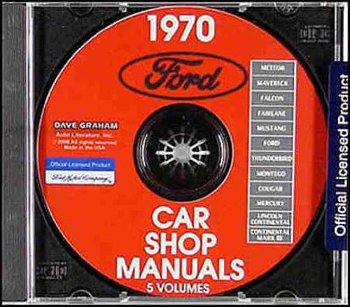 1970 FORD MUSTANG REPAIR SHOP & SERVICE MANUAL CD. Mustang, Mustng Grande, Mustang Mach I, Mustang Shelby or Cobra 70