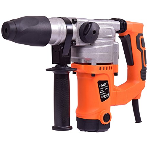 - Goplus Electric Rotary Hammer Drill 1-1/2-Inch 1000W SDS Chisel Bits Demolition Kit w/Case