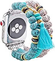 for Apple Watch Strap 38mm 44mm 5/4/3 Bracelet Wristband Unique Elastic Stretch Bohemian Beaded Bracelet Bands