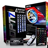 OPT7 3-Into-1 Aura Wheel Well LED Kit | All-Color Strips w/SoundSync (Single Row)