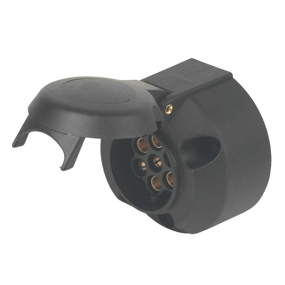 Maypole MP023 N-Type 7-Pin Trailer Board Socket 12V