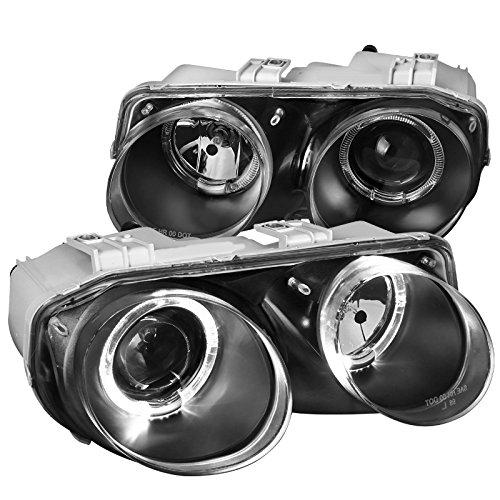 Acura Integra Replacement Halo Black Projector Headlights Headlamps Left+Right - Acura Integra Halo Projector Headlights