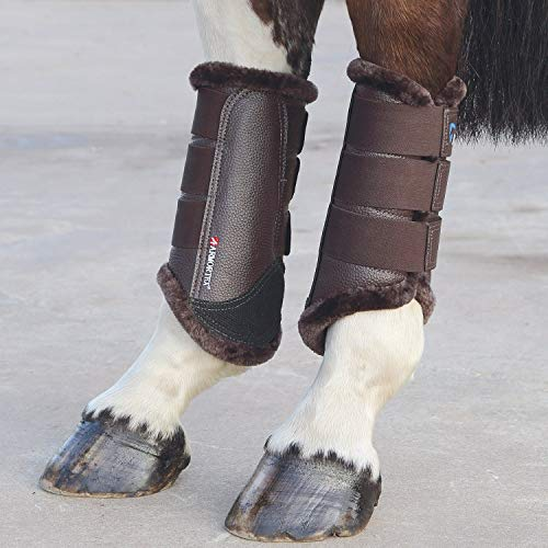 Full marrone Shires size pelliccia stinchiere arma twTqFx6a4