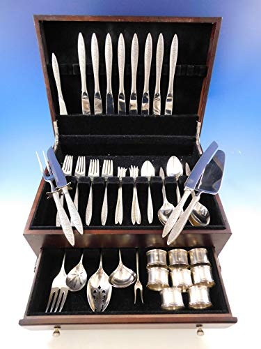 Spanish Lace by Wallace Sterling Silver Flatware Service for 8 Set 68 Pieces -