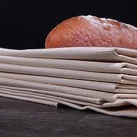 HJO Pa/ños fermentados de Gran tama/ño Pa/ño Pa/ños de Prueba Profesionales Panaderos Pa/ño de Prueba de horneado Pa/ños de Lino fermentados Pa/ño Lino Estera para Hornear Utensilios de Cocina
