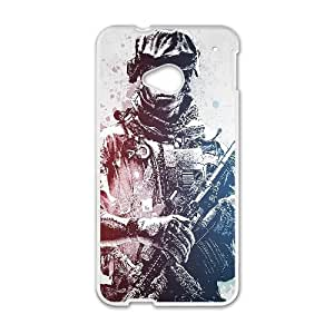 Battlefield 3 Game HTC One M7 Cell Phone Case White Customize Toy zhm004-3888179