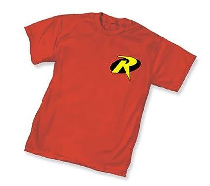 Amazon Batman Robin Symbol R Red Adult T Shirt Tee Movie And