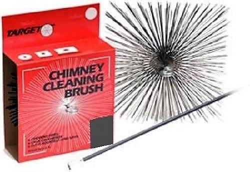 Target Ceramic Flue 10'' x 8'' Wire Chimney Brush 1/4'' 31008 by Target