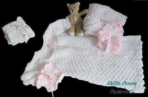 Crochet Christening Gown (CP7 - Crochet Pattern Baby Christening Gown)