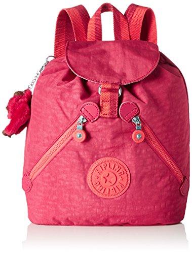 Kipling Bustling - Mochilas Mujer Rosa (Punch Pink C)
