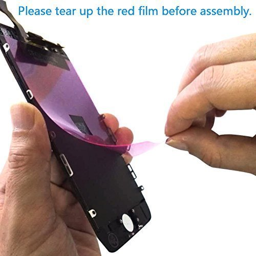 FFtopu Compatible for Screen Replacement for iPhone 7 Plus in Black, Including All Tools,Repair Kit with Digitizer LCD Touch Screen Frame Assembly (iPhone 7 Plus, 5.5'' by FFtopu (Image #4)