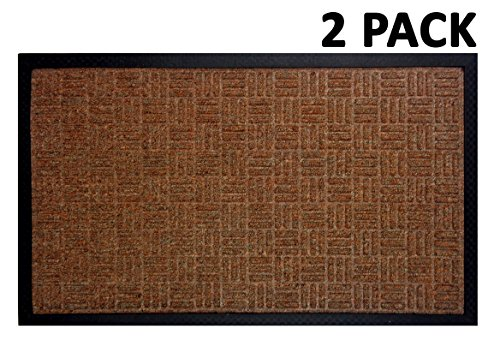 Iron Gate - 2 Pack Gatekeeper Doormat 18x30 Tan - Extremely sturdy and rugged construction 69 Ounces / 6000 GSM - Polypropylene surface & Rubber back for better floor grip - Indoor Outdoor Rug Border