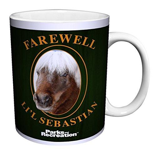 Parks and Recreation Farewell Li'l Lil Sebastian Workplace Comedy TV Television Show Ceramic Gift Coffee (Tea, Cocoa) (15 oz C Handle Ceramic Mug)