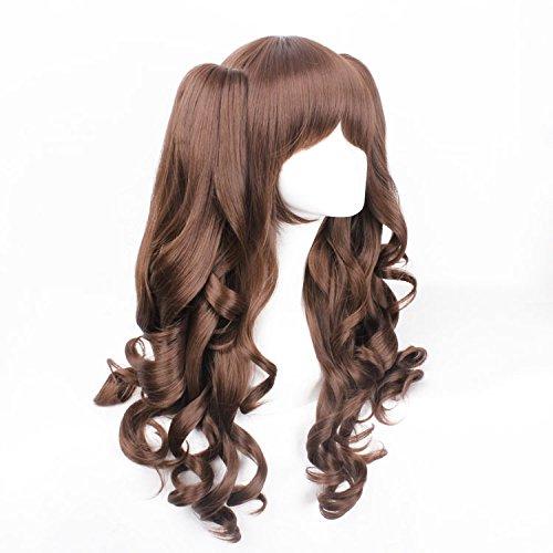 Free Hair Cap + Harajuku Lolita Two Ponytails Cosplay Wig Brown Costume Wigs