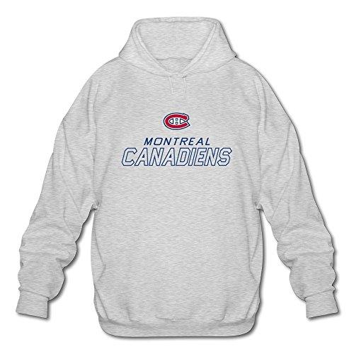 Mens Quebec Montreal Canadiens LOGO HOCKEY Sweatshirts Ash