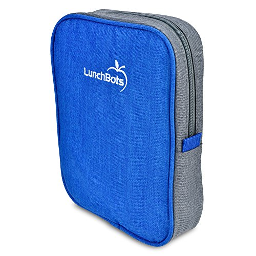 "LunchBots Bento Sleeve - Royal - Carrying Case for LunchBots Bento Trio and Cinco 6"" x 8"" Containers ()"