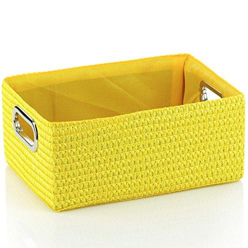 Designer Korb Dekokorb Box gelb