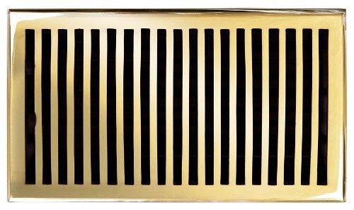 Brass Elegans 116GR-PLB Solid Cast Brass Contemporary 6-Inch by 10-Inch Floor Register, Polished Brass Finish Model by Brass - Plb Polished Brass