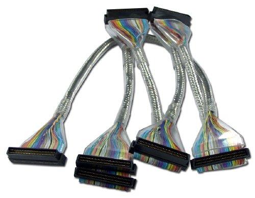 QVS 60'' Ultra320 SCSI LVD Five Drives Translucent Silver Round Internal Bulk Cable by QVS