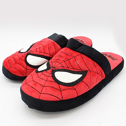 Official Marvel Superhero The Amazing Spider-Man New Plush Slip On Mule Slippers Red X3RpGKq86D