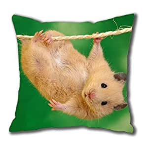 Hamster Cotton cute Square Pillow Case by Cases & Mousepads